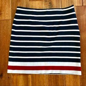 Banana Republic striped cotton skirt size 4